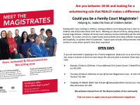 magistrates recruitment poster