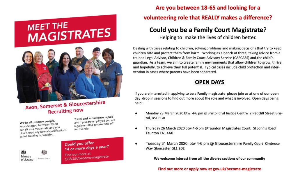 magistrates recruitment poster